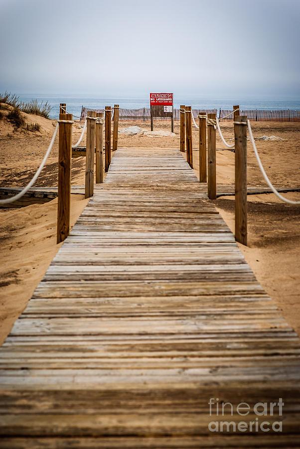 New Buffalo Boardwalk Beach Entrance Photograph
