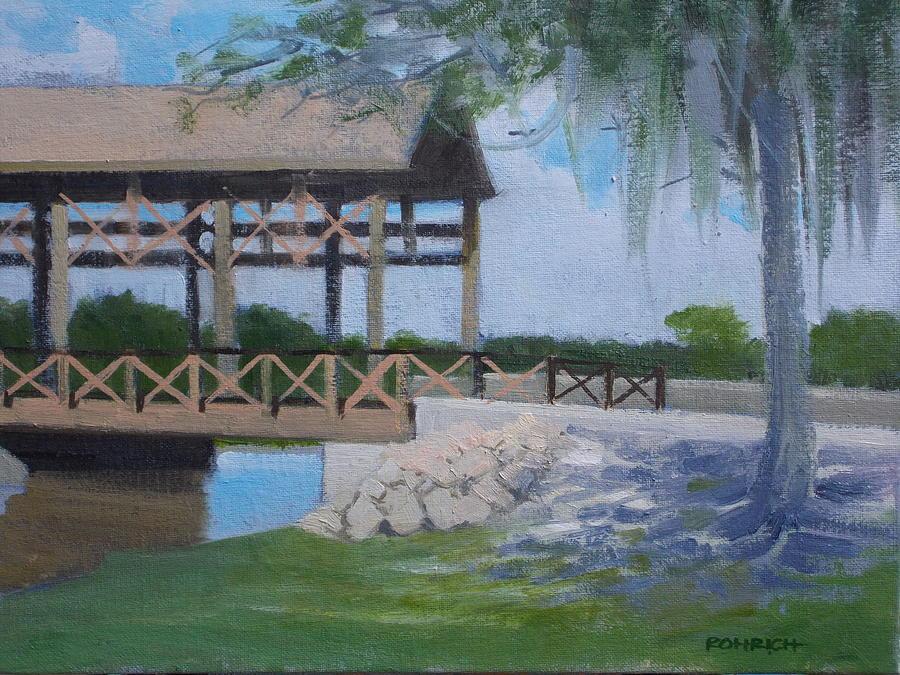 Covered Bridge Painting - New Covered Bridge by Robert Rohrich