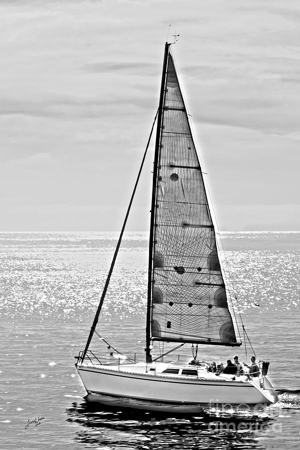 Sailboat Photograph - New Dawn - Sailing Into Calm Waters by Artist and Photographer Laura Wrede