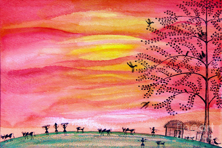 Hope Painting - New Day by Anjali Vaidya