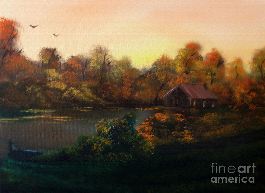 Painting Mixed Media - New Day In Autumn Sold by Cynthia Adams