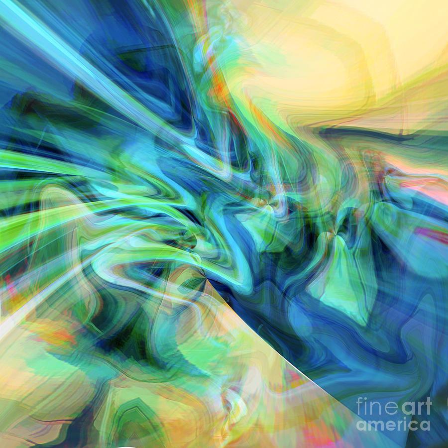 Azure Digital Art - New Day by Margie Chapman