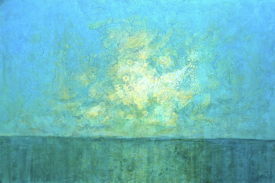 Seascape Painting - New Day by Pam Talley