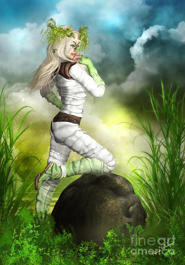 Fantasy Mixed Media - New Earth 3014 by Alicia Hollinger