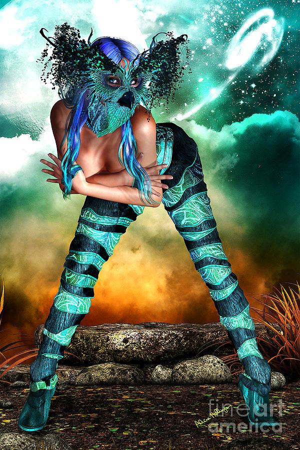 Fantasy Mixed Media - New Earth 3015 by Alicia Hollinger