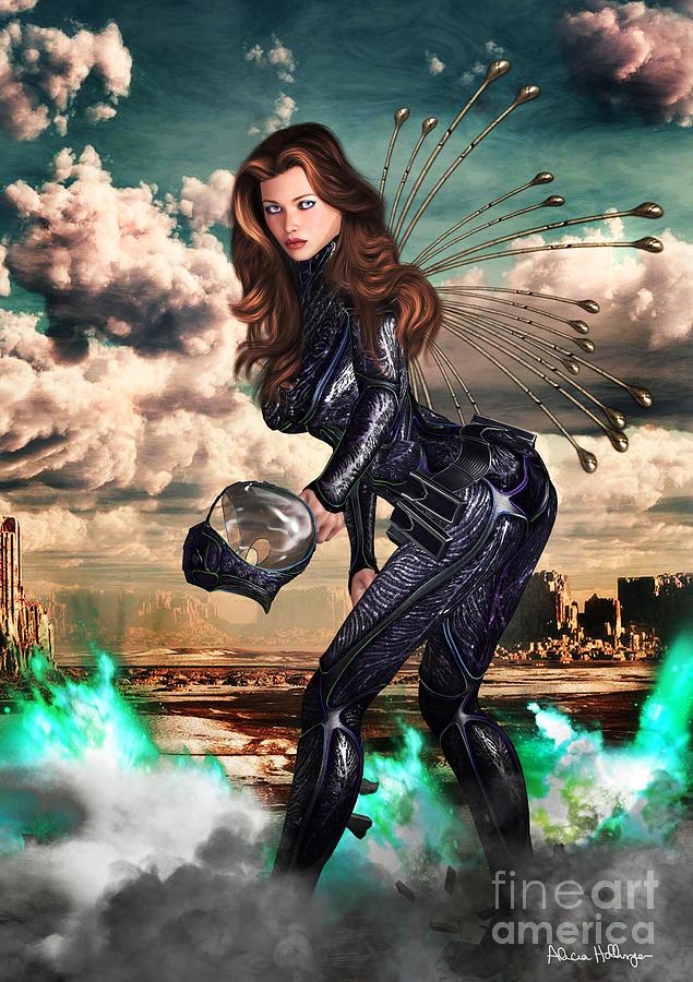 Fantasy Mixed Media - New Earth 3017 by Alicia Hollinger