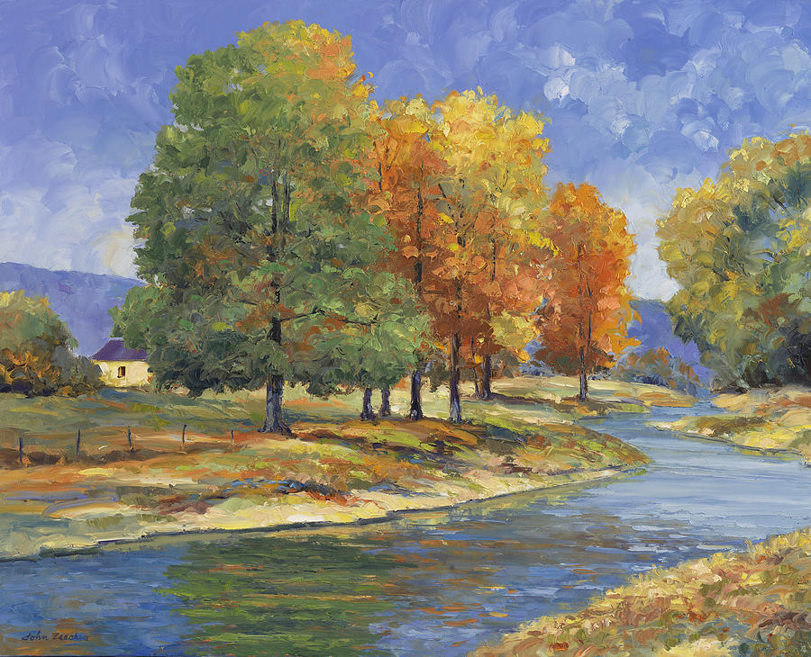 John Painting - New England Autumn by John Zaccheo