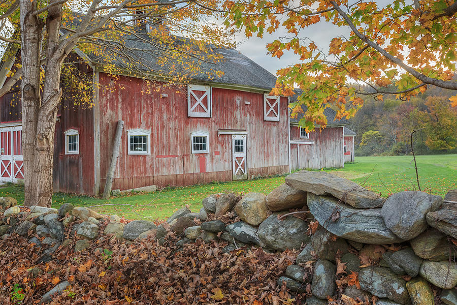 Vintage Photograph - New England Barn by Bill Wakeley