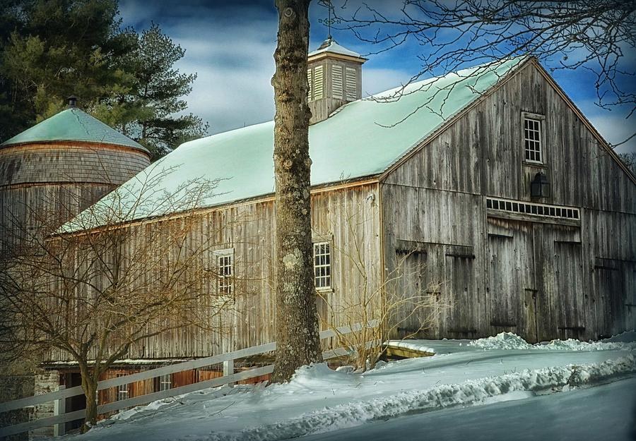 Nature Photograph - New England Barn by Tricia Marchlik