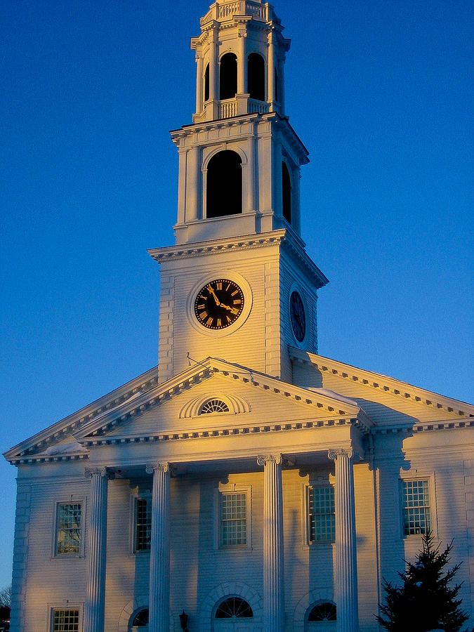 New England Photograph - New England Church by DustyFootPhotography