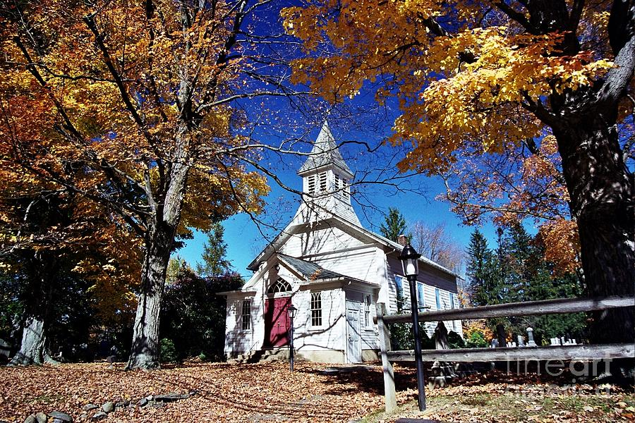 Churches Photograph - New England In New Jersey by Allen Beatty