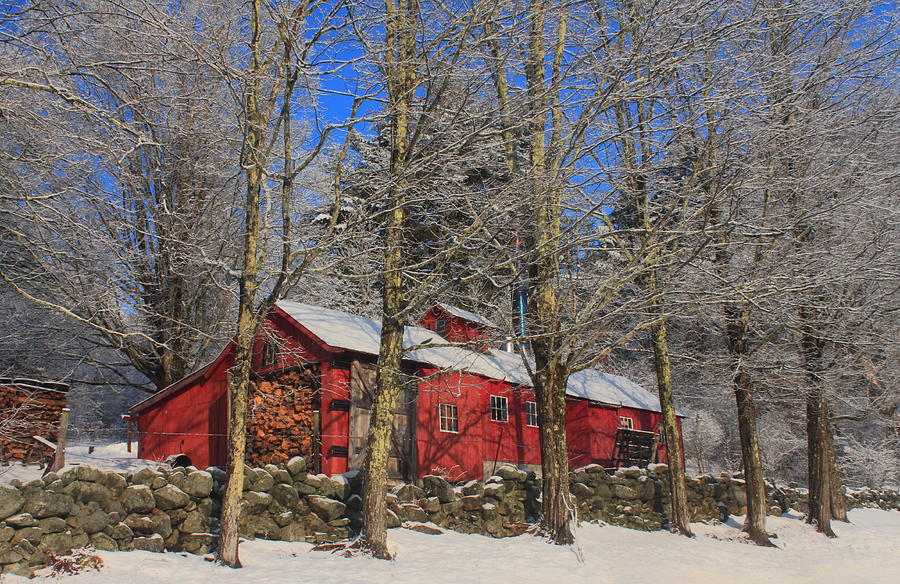 New England Maple Sugar House In Late Winter Photograph