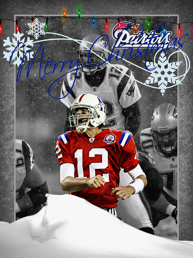 Patriots Photograph - New England Patriots Christmas Card by Joe Hamilton