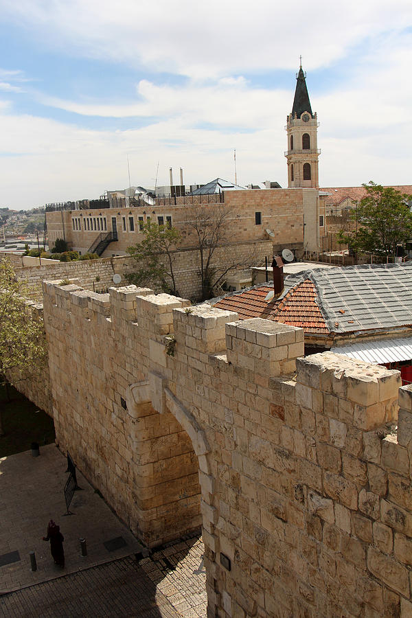 New Photograph - New Gate of Jerusalem Old City by Munir Alawi