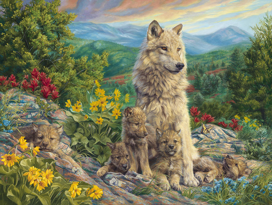 Wolf Painting - New Generation by Lucie Bilodeau