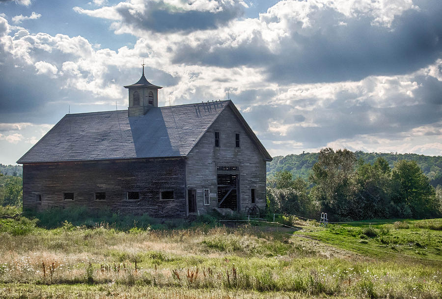 Barn Photograph - New Gloucester 7p00331 by Guy Whiteley