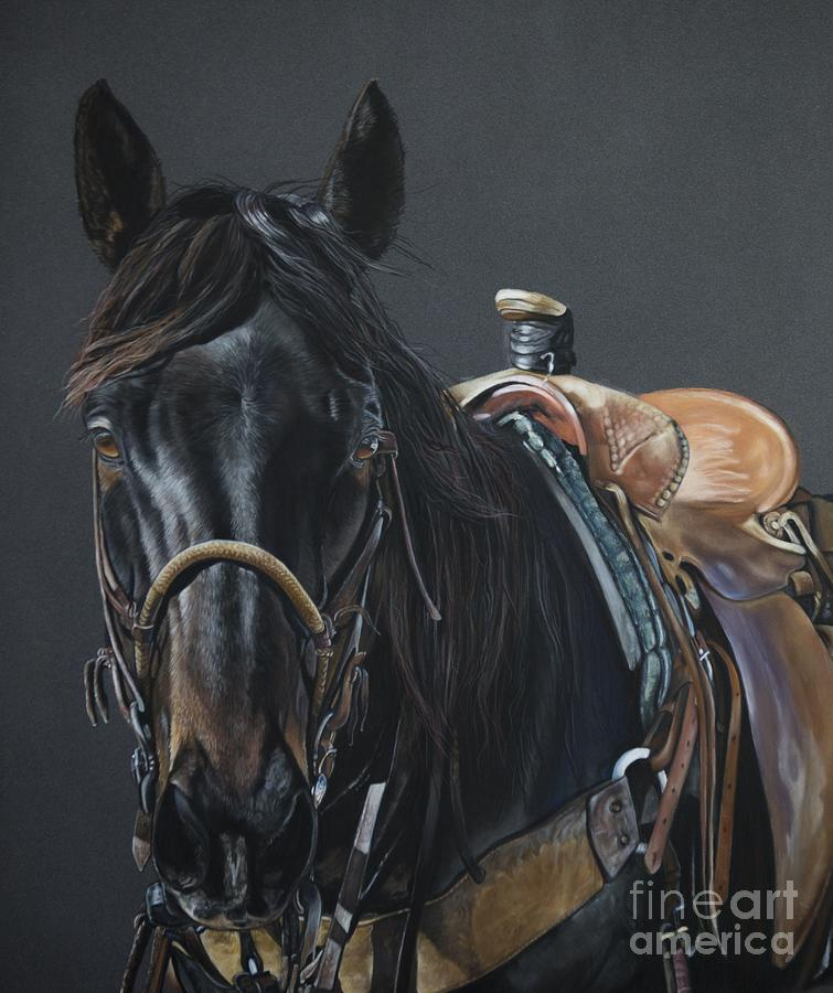 Equine Pastel - New Guy on the Job by Joni Beinborn