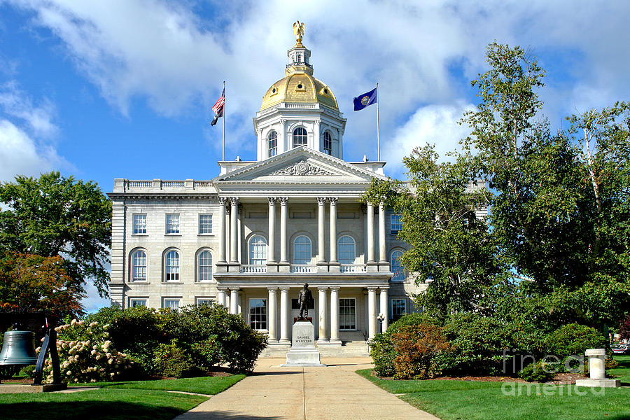 New Photograph - New Hampshire State Capitol by Olivier Le Queinec