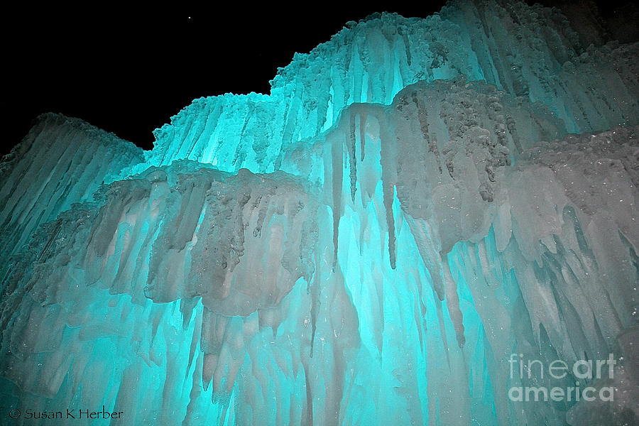 Ice Photograph - New Heights by Susan Herber