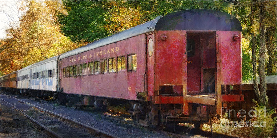 Train Photograph - New Hope And Ivyland by Louise Reeves