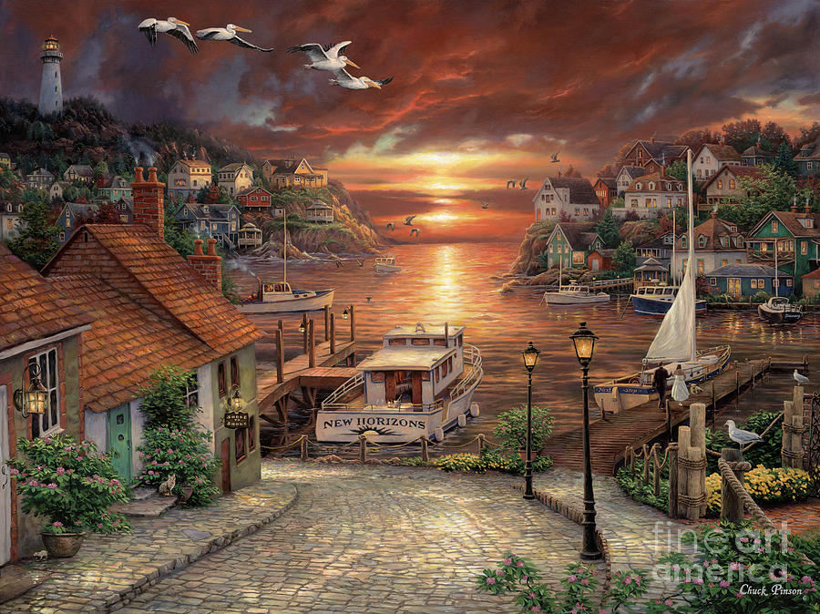 Fishing Painting - New Horizons by Chuck Pinson