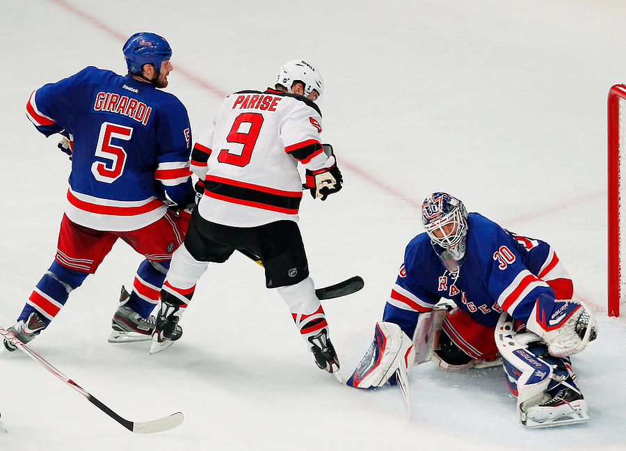 4faa7516f New Jersey Devils V New York Rangers - Game Two Photograph by Paul Bereswill