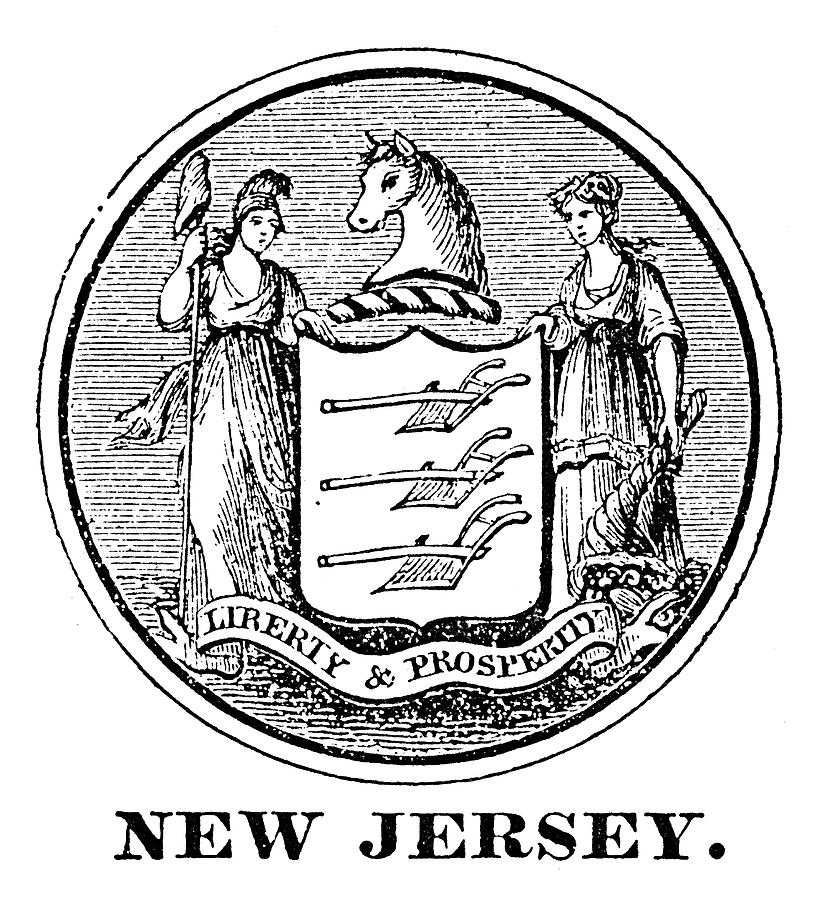 18th Century Painting - New Jersey State Seal by Granger