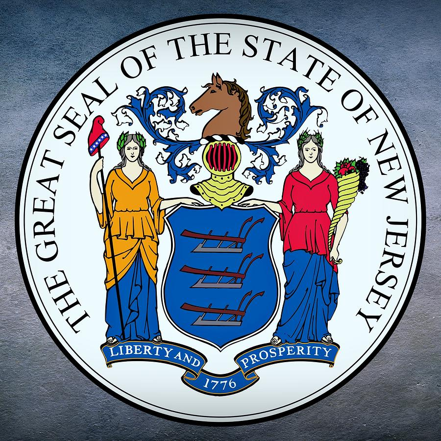 New Jersey Digital Art - New Jersey State Seal by Movie Poster Prints