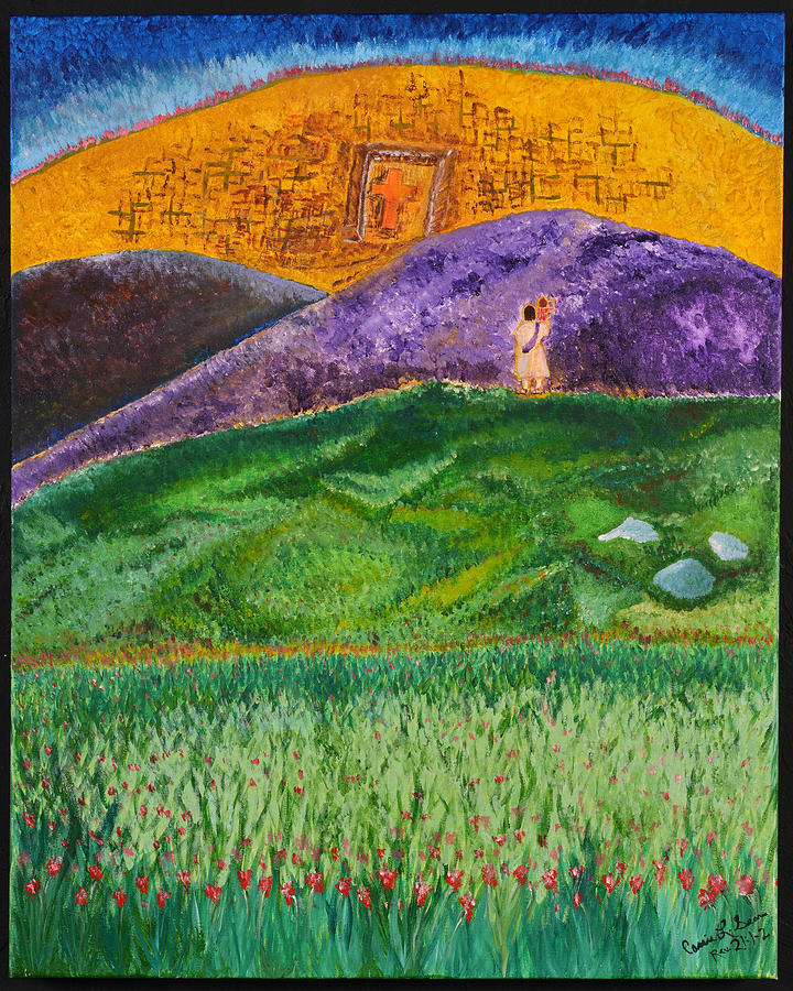Art-by-cassie Sears Painting - New Jerusalem by Cassie Sears