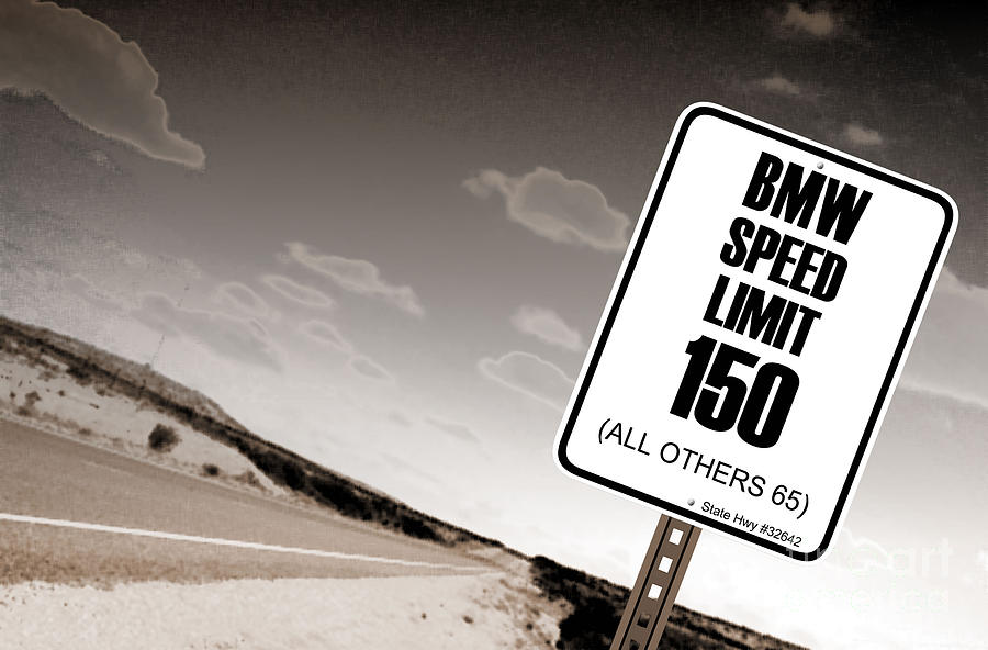 Highway Signs Photograph - New Limits Sepia by David Jackson