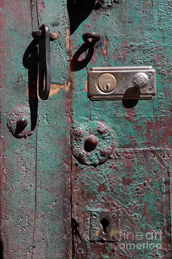 Door Photograph - New Lock On Old Door 3 by James Brunker