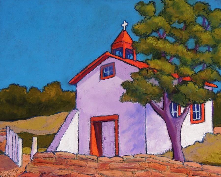 Southwest Church Pastel - New Mexico Church by Candy Mayer
