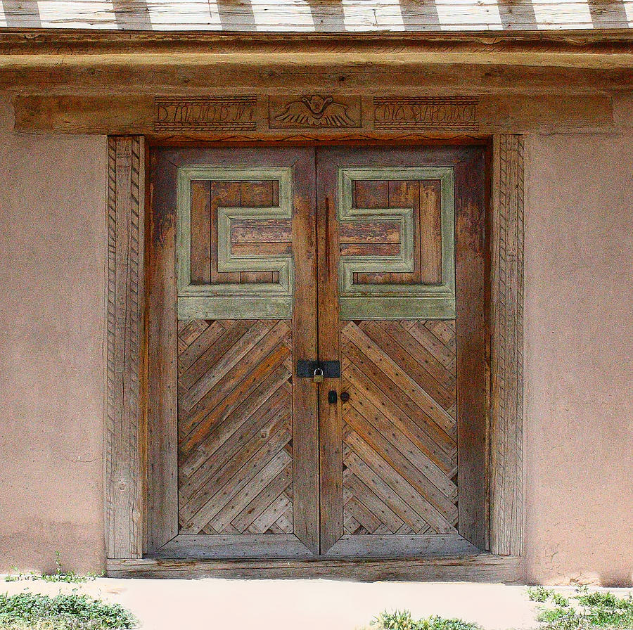 New Mexico Photograph - New Mexico Church Doors by Iris Page