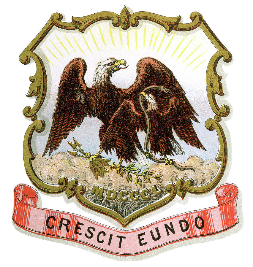 1876 Painting - New Mexico Coat Of Arms by Granger