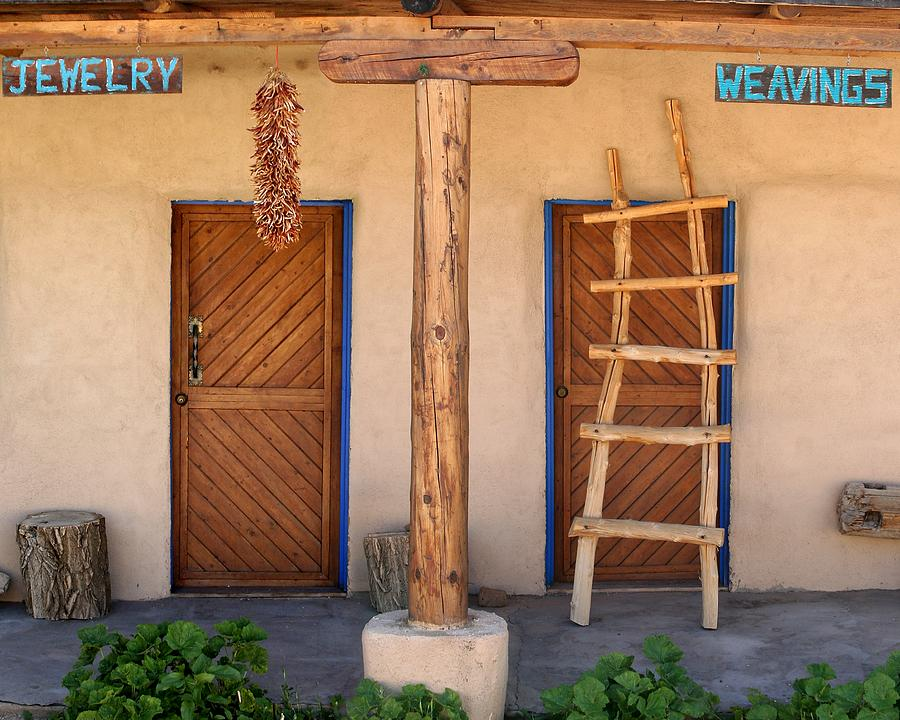 Adobe Photograph - New Mexico Shop Fronts by Heidi Hermes