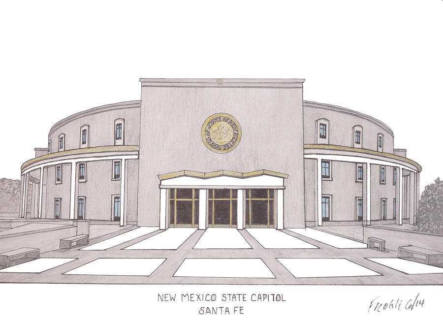 New mexico state capitol drawing by frederic kohli canvas prints drawing new mexico state capitol by frederic kohli publicscrutiny Choice Image