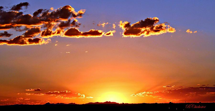Sundown Photograph - New Mexico Sunset Glow by Barbara Chichester