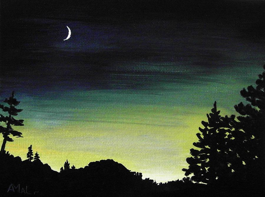 Moon Painting - New Moon by Anastasiya Malakhova