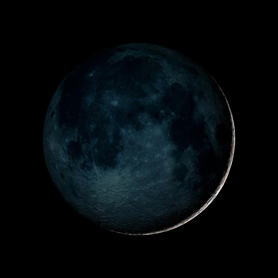 Moon Photograph - New Moon by Nasa/gsfc-svs/science Photo Library