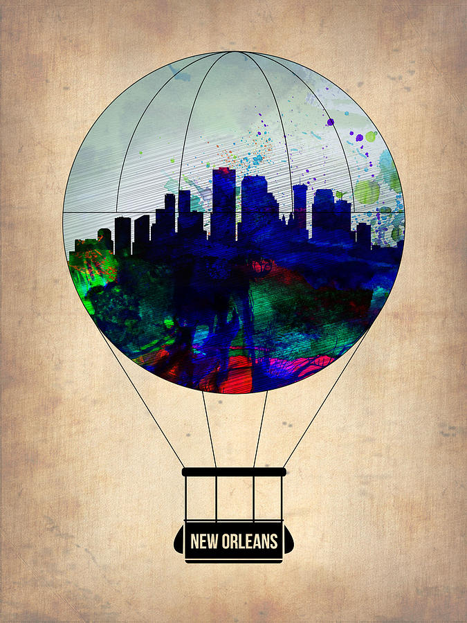 New Orleans Painting - New Orleans Air Balloon by Naxart Studio