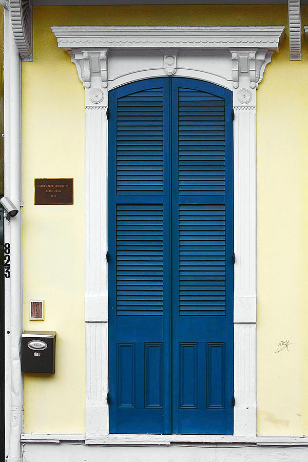 New Orleans Blue Door Photograph By Christine Till