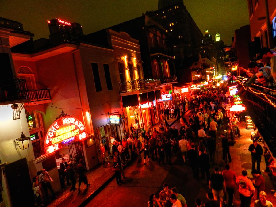 New Orleans Photograph - New Orleans - Bourbon St. 003 by Lance Vaughn