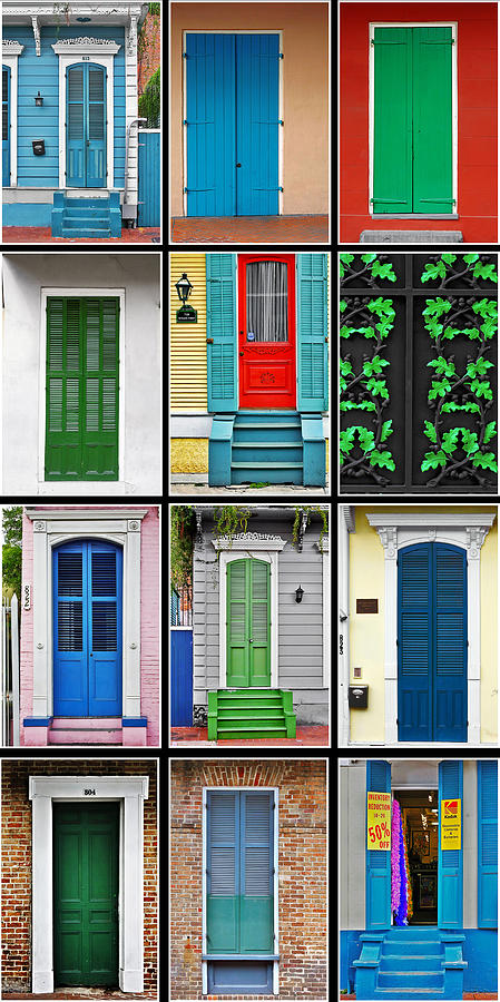 Collage Photograph - New Orleans Doors by Christine Till