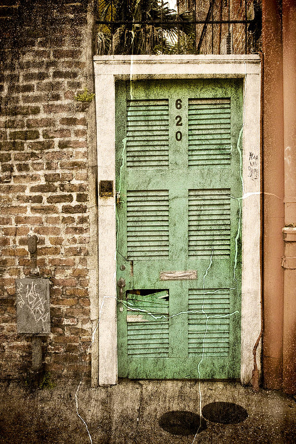 New Orleans Photograph - New Orleans Doorway by Ray Devlin