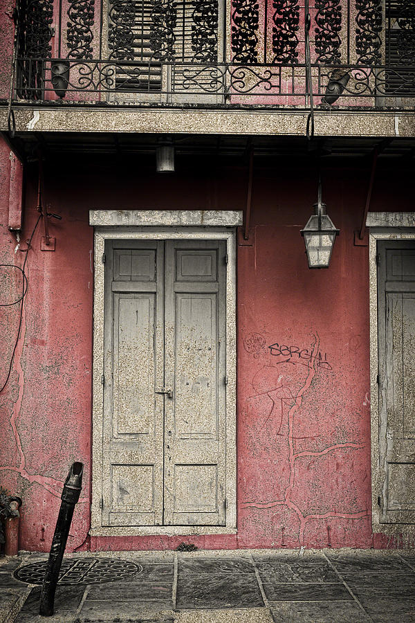 New Orleans Photograph - New Orleans French Quarter Balcony And Doorway by Ray Devlin