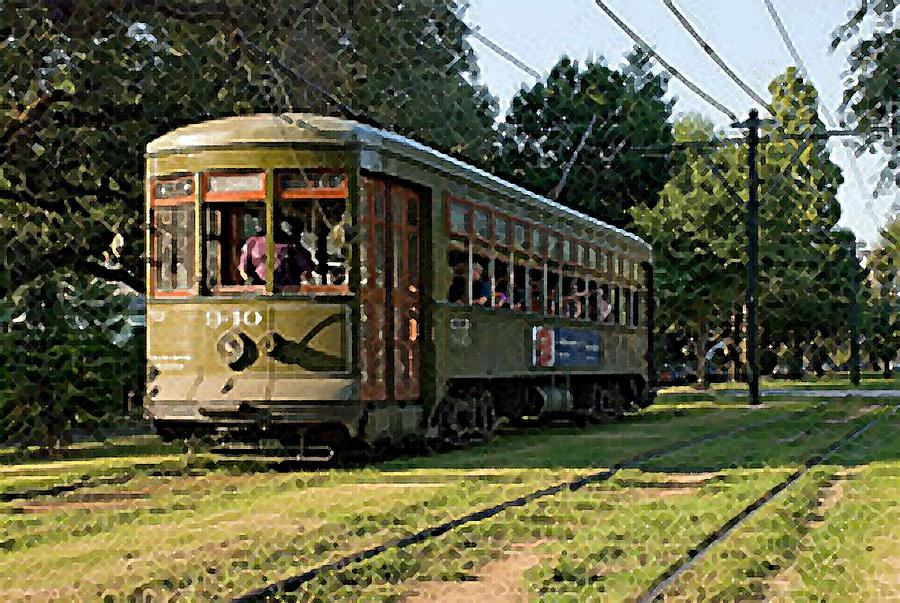 New Orleans Street Cars: New Orleans French Quarter Streetcar Louisiana Artwork