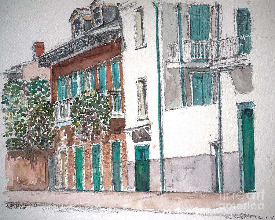 Louisiana Painting - New Orleans Gov. Nichols And Royal St by Anthony Butera
