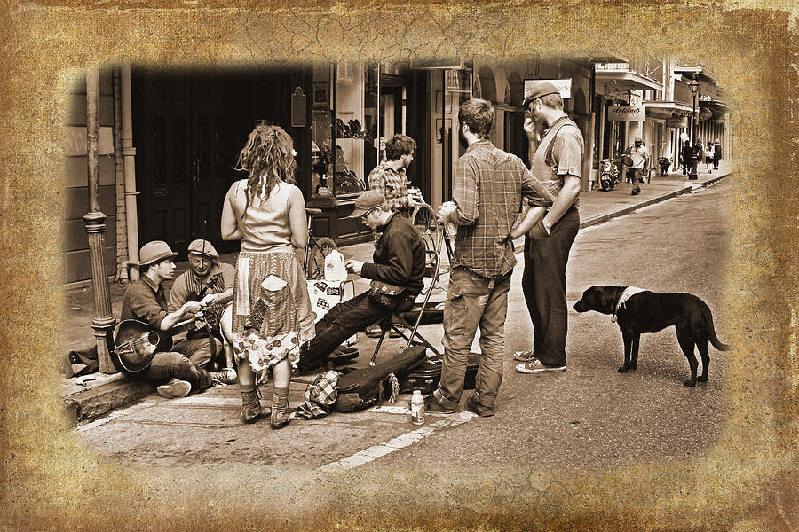 Acadian Photograph - New Orleans Gypsies - Antique by Judy Vincent