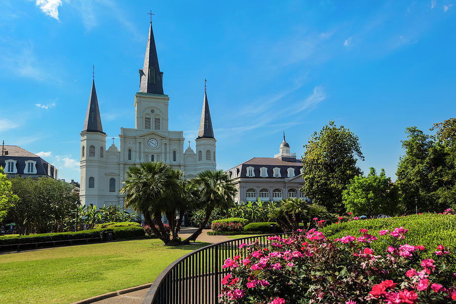 New Orleans Jackson Square And Saint Photograph by Drnadig