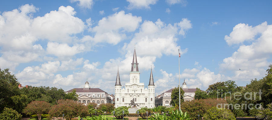 Jackson Square Photograph - New Orleans Panorama by Kay Pickens